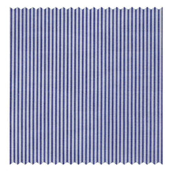 Navy-Blue Narrow-Stripe Poplin (2 Fold 120's)