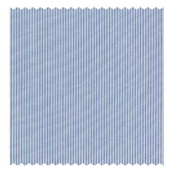 Navy, Sky-Blue & White Multi-Stripe Poplin (Sea Island Quality)