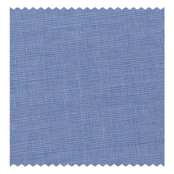 Mid-Blue Prince of Wales Check Poplin (Sea Island Quality)