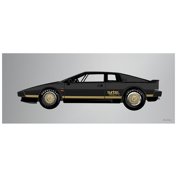 1981 Lotus Espirit Turbo Black