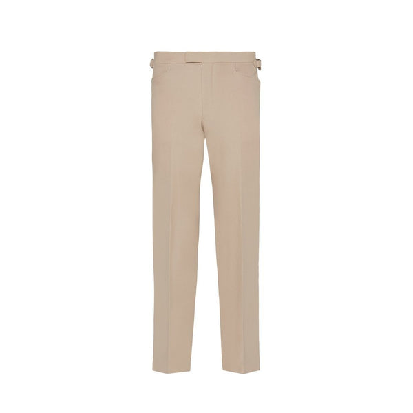 Beige Cavalry Twill Trousers