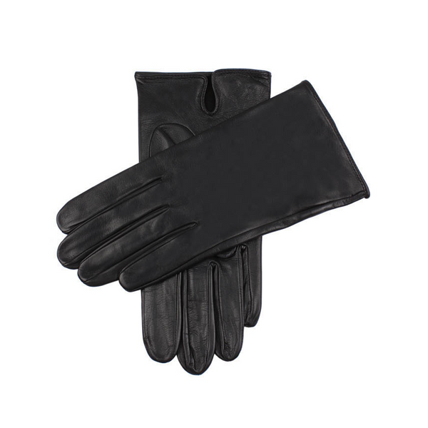 "Black ""Skyfall"" Unlined Leather Gloves"