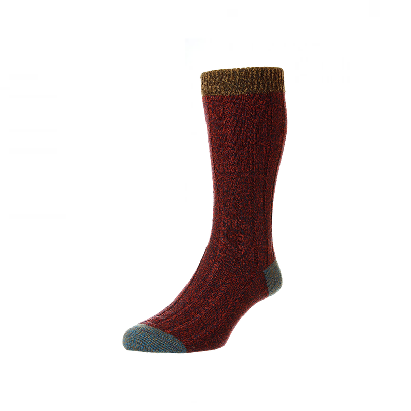 Chestnut Marl Burghley Socks