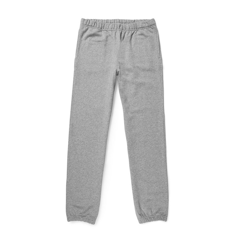 Mason & Sons | Sunspel Cotton Loopback Track Pant in Grey Melange -1