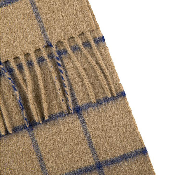 Fawn Cashmere Check Scarf with Gift Box