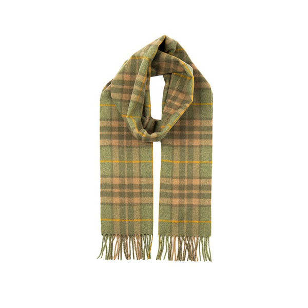 Moss Cashmere Check Scarf with Gift Box
