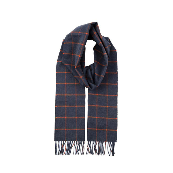 Tangerine Cashmere Check Scarf with Gift Box