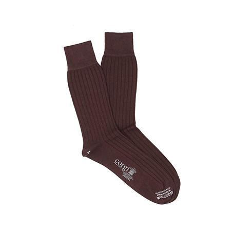 Chocolate Lightweight Cotton Socks
