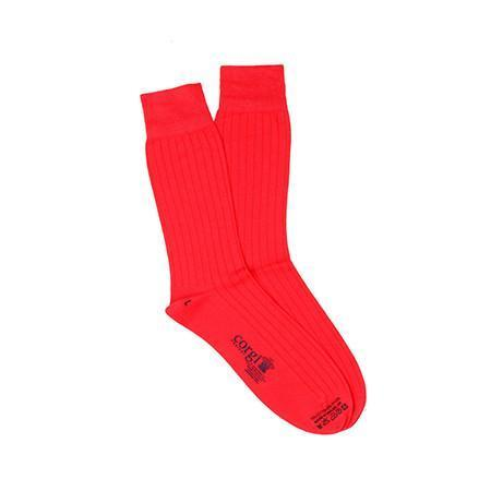 Red Lightweight Cotton Socks