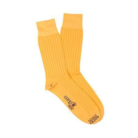 Yellow Lightweight Cotton Socks