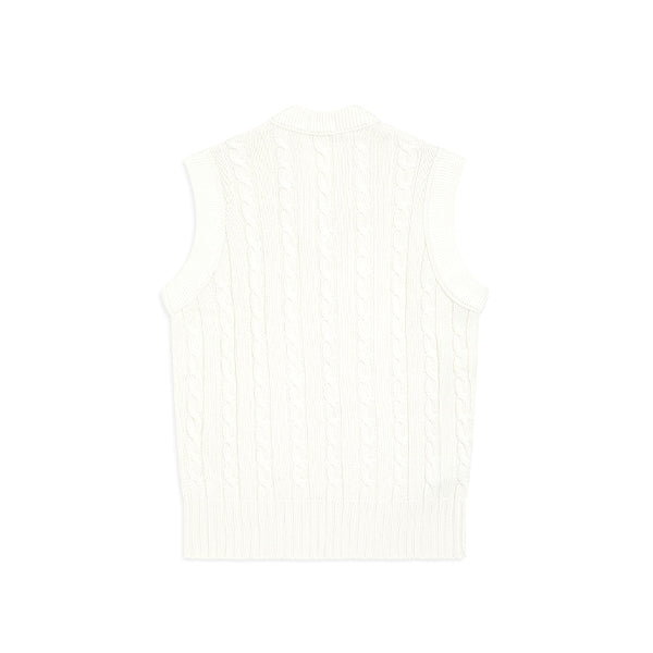 White Cable Knit Tank