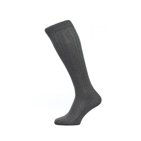 Dark Grey Danvers Long Socks