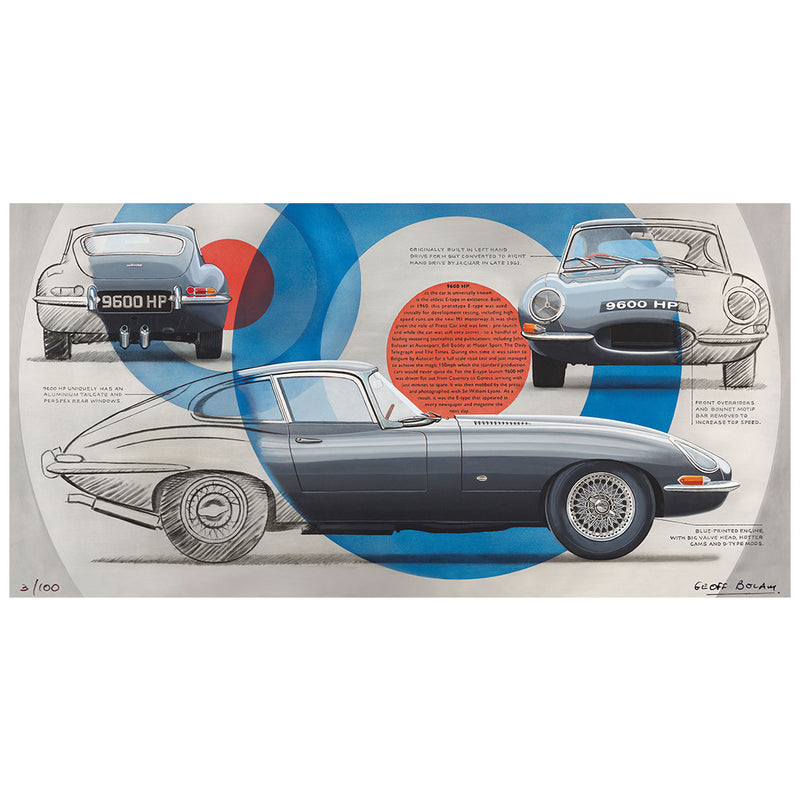 E-Type Jaguar 9600 HP Limited Edition Print