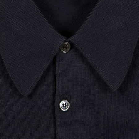 Navy Finchley Long Sleeved Polo