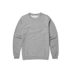 Grey Melange Cotton Loopback Sweatshirt