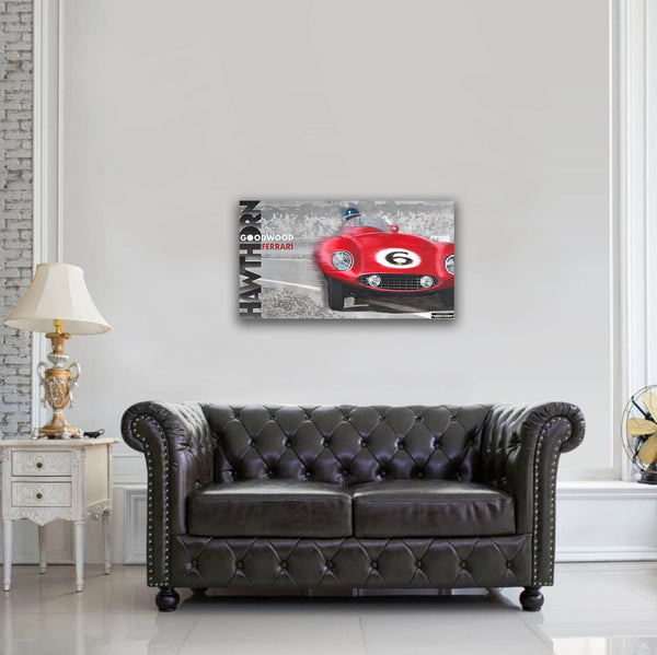 Hawthorn Ferrari Goodwood Original Painting