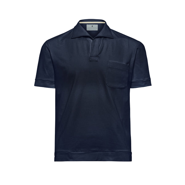 Navy Solid Comber Polo Shirt