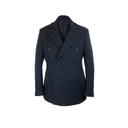 Tailored Peacoat in Loro Piana Knit Fabric