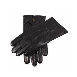 Black Cashmere Lined Leather Gloves