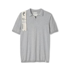 Light Grey Knitted Emery Polo Shirt
