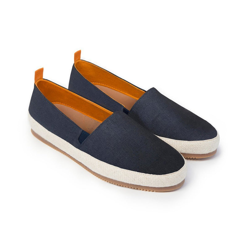Dark Blue Cotton Espadrille
