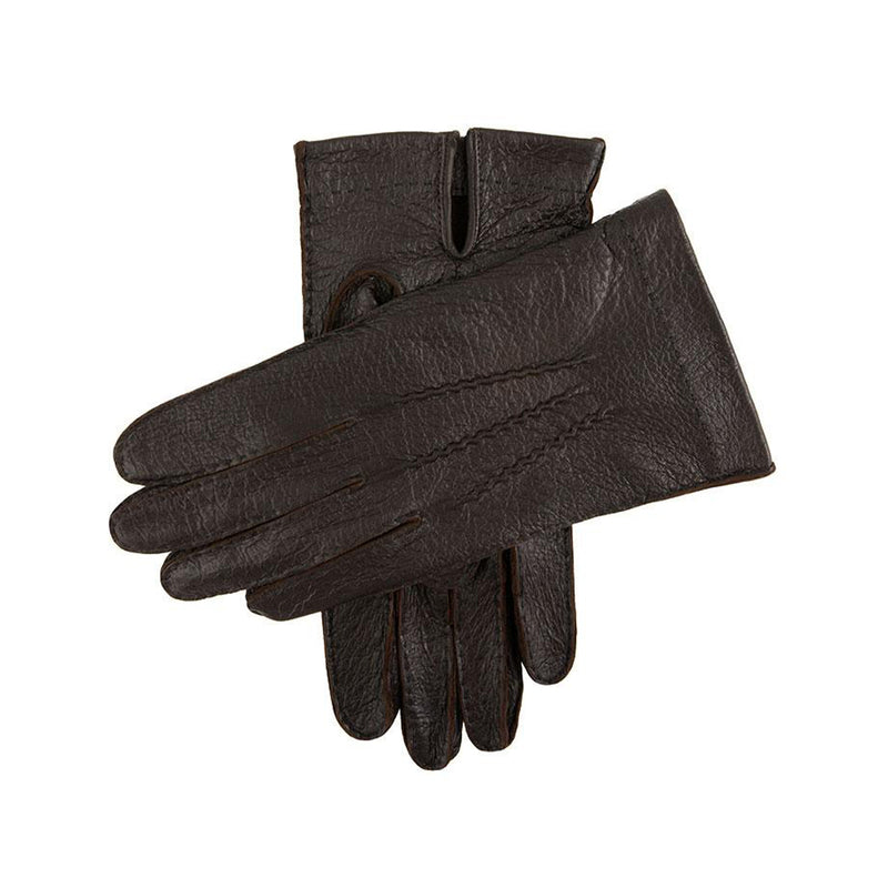 Bark Unlined Peccary Leather Gloves