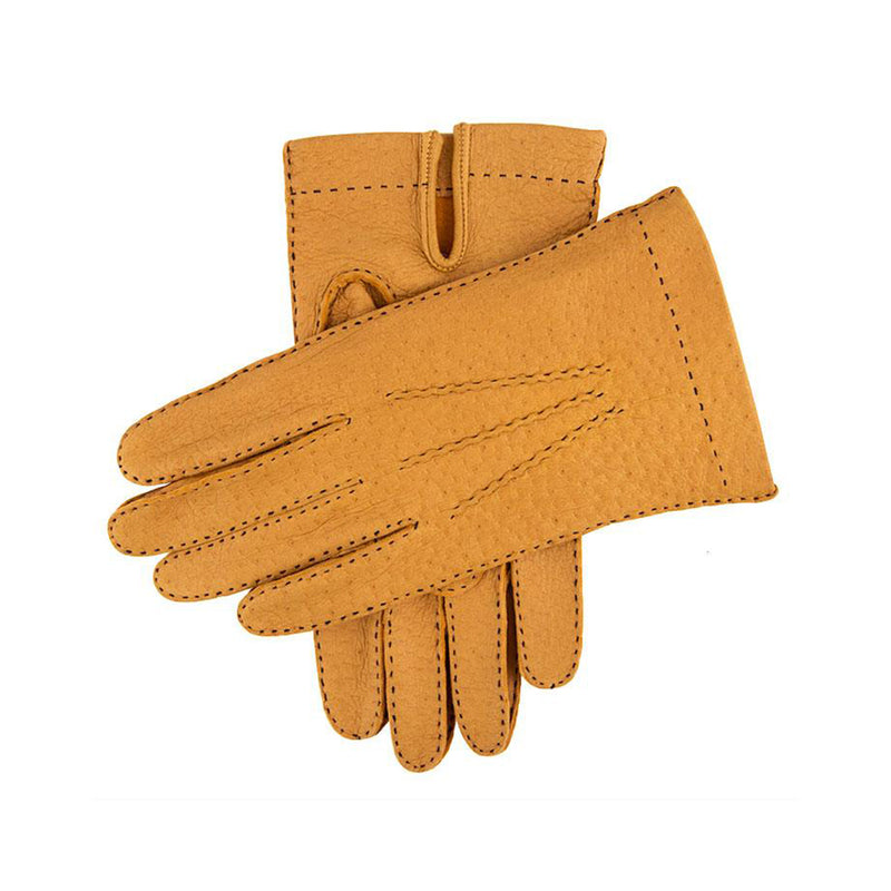 Cork Unlined Peccary Leather Gloves