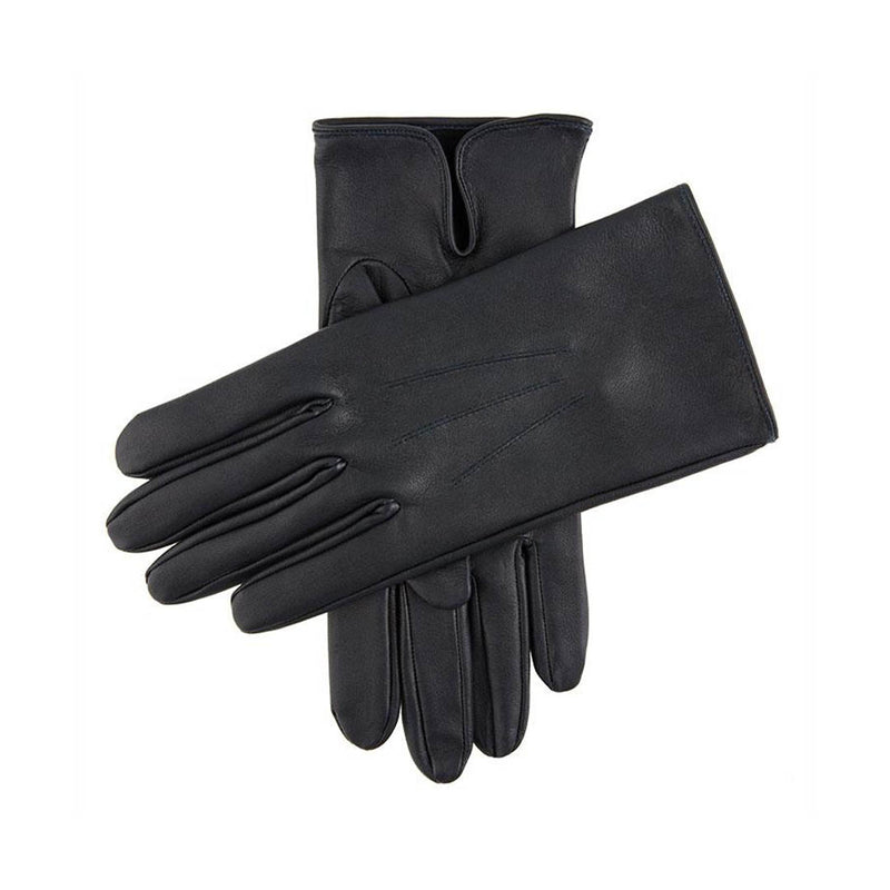 Navy Milton Unlined Leather Gloves