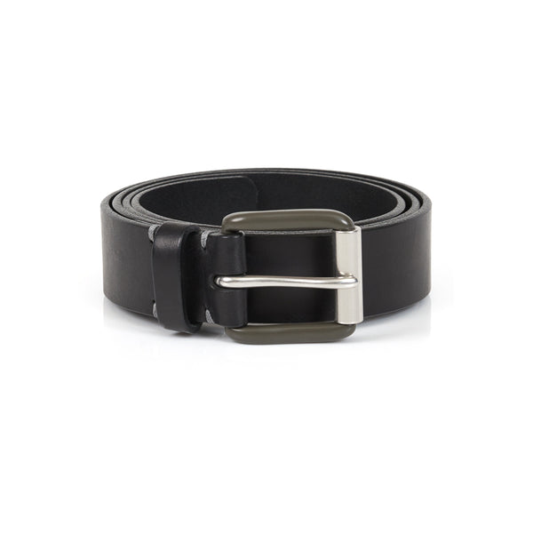 Modernist Belt in Pitch Black with Grey