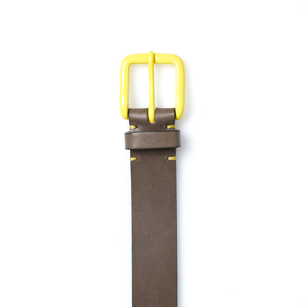 Modernist Belt in Form Grey with Citron