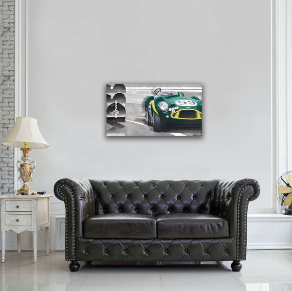 Moss Aston Goodwood Original Painting