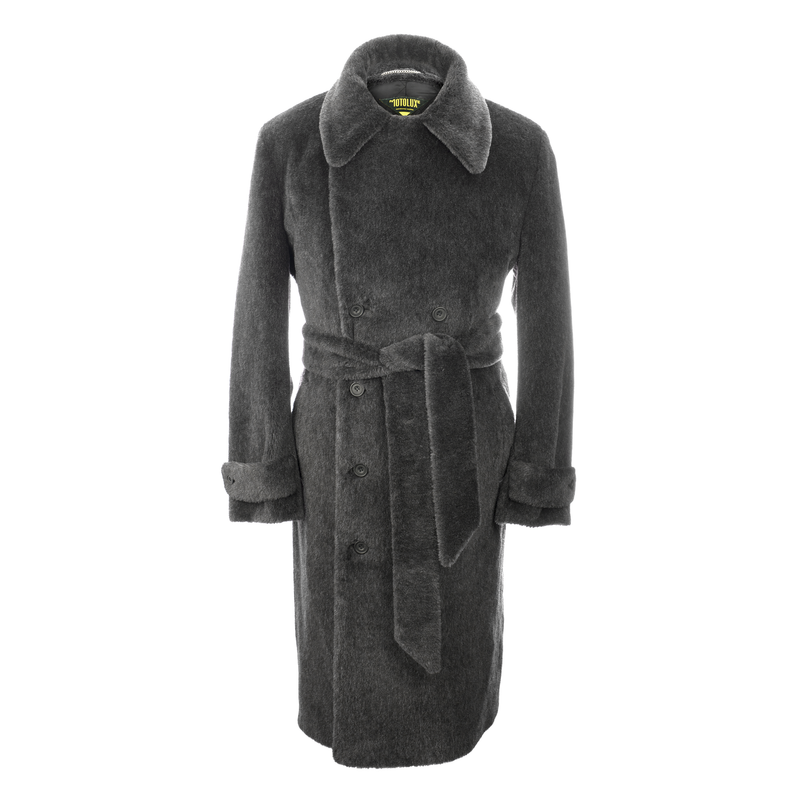 Charcoal Teddy Bear Coat