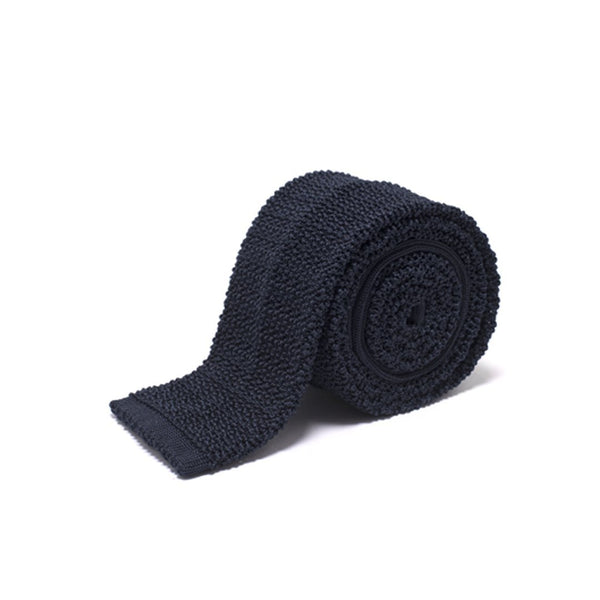 Navy Blue Knitted Necktie