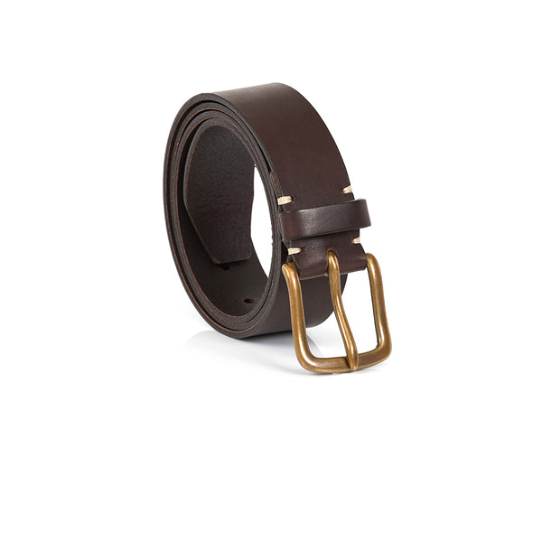 Original Belt in Walnut Brown with Brass