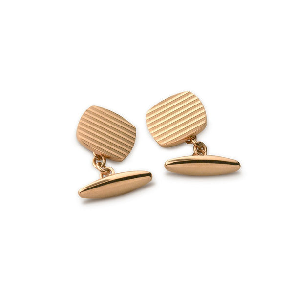 Rose Gold Engine-Turned Cufflinks
