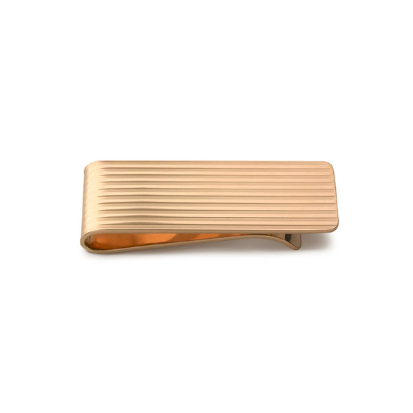 Rose Gold Engine-Turned Money Clip