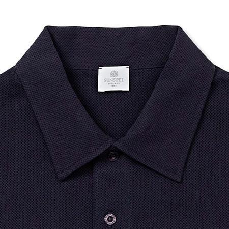 Navy Long Sleeve Riviera Polo Shirt