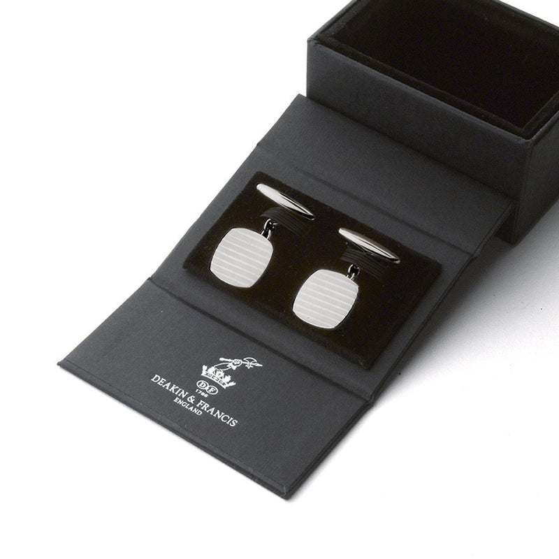 Sterling Silver Engine-Turned Cufflinks