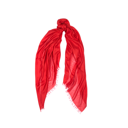 Mason & Sons | Begg & Co Staffa Lightweight Cashmere and Silk Scarf in Rouge -1