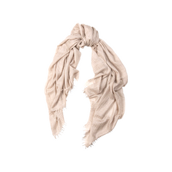 Mason & Sons | Begg & Co Staffa Lightweight Cashmere and Silk Scarf in Stone -1