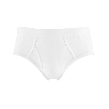 White Cellular Cotton Briefs