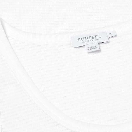 White Cellular Cotton Vest