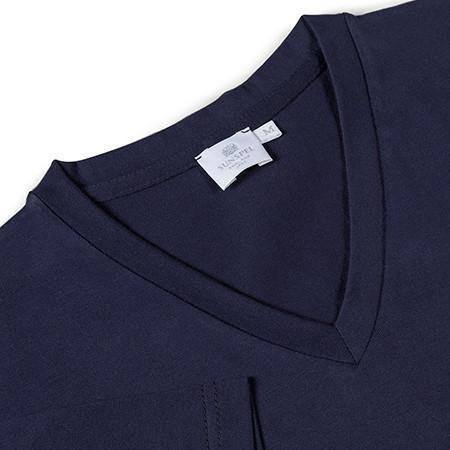 Navy Classic Cotton V-Neck T-Shirt