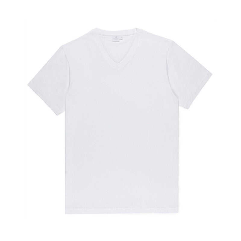 White Classic Cotton V-Neck T-Shirt