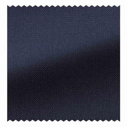 Navy Blue Hopsack High Twist