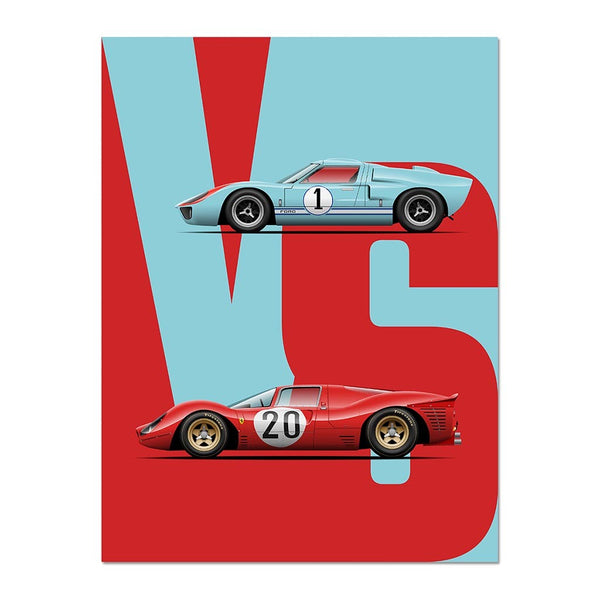 The Ultimate Endurance Rivalry - GT40 vs 330P3 Motorsport Poster
