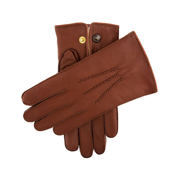 Havana Fur Lined Deerskin Leather Gloves