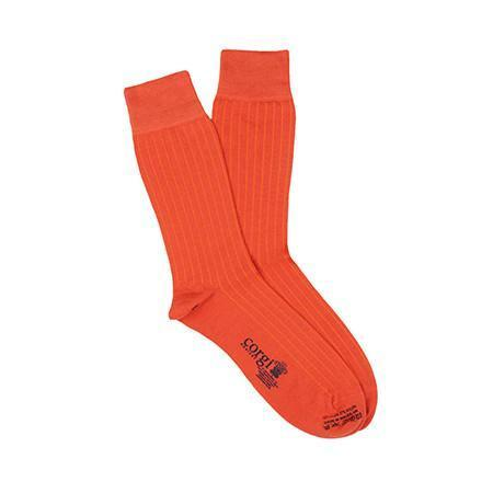 Orange Lightweight Wool Socks