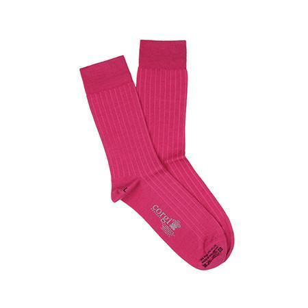 Pink Lightweight Wool Socks