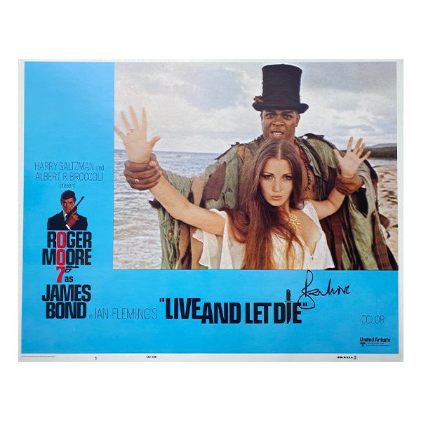 Live and Let Die Signed Lobby Cards (1973)